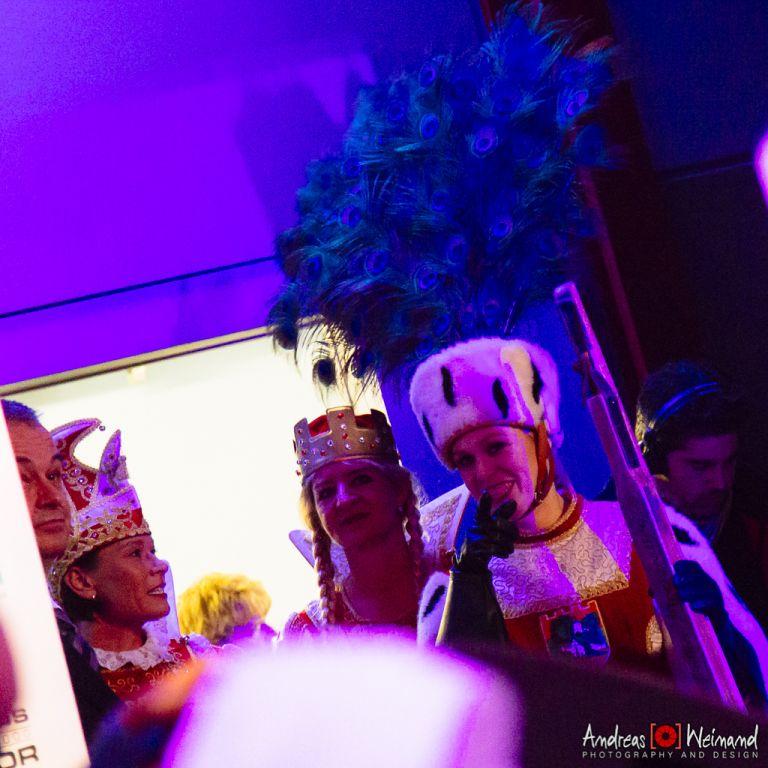 Refrather Dreigestirn 2014 im Kölner Pullmann Hotel (Kölner Hofburg) zusammen mit den Höhnern auf der Bühne