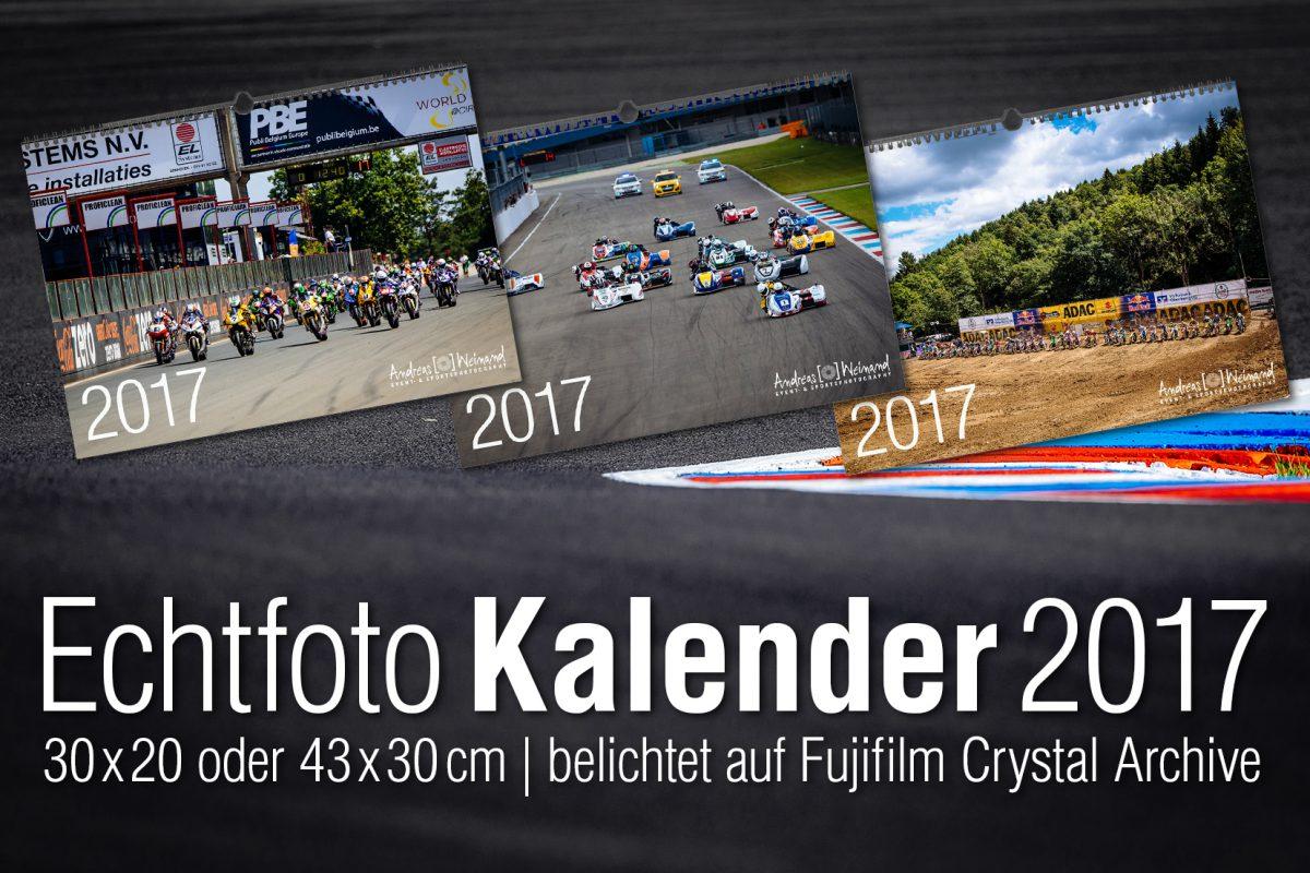 Geschenkidee zu Weihnachten, Superbike*IDM Kalender 2017, Sidecar*IDM Kalender, MX Masters Kalender 2017